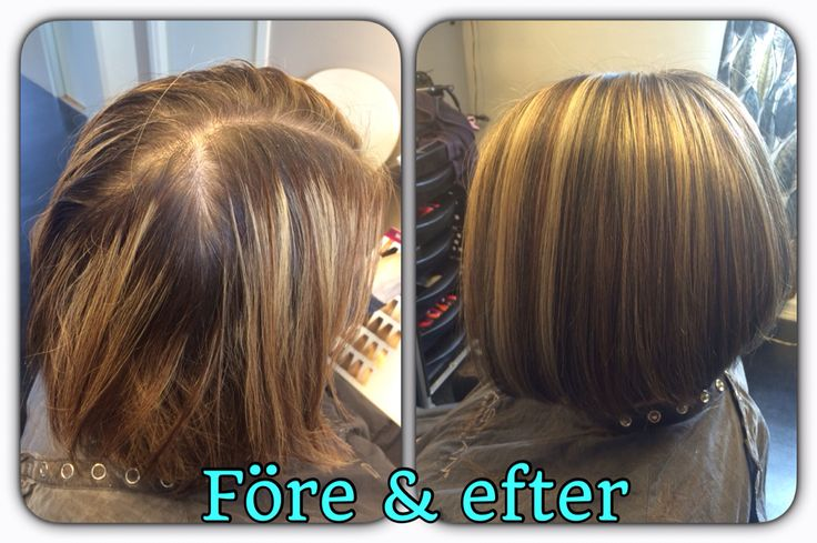 Before and after, highligts, haircolor and haircut