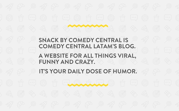 SNACK by Comedy Central on Behance