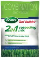 Scotts Turf Builder 2 in 1 Reseeding Mix for Sun and Shade Lawns - Grass Seed - Scotts