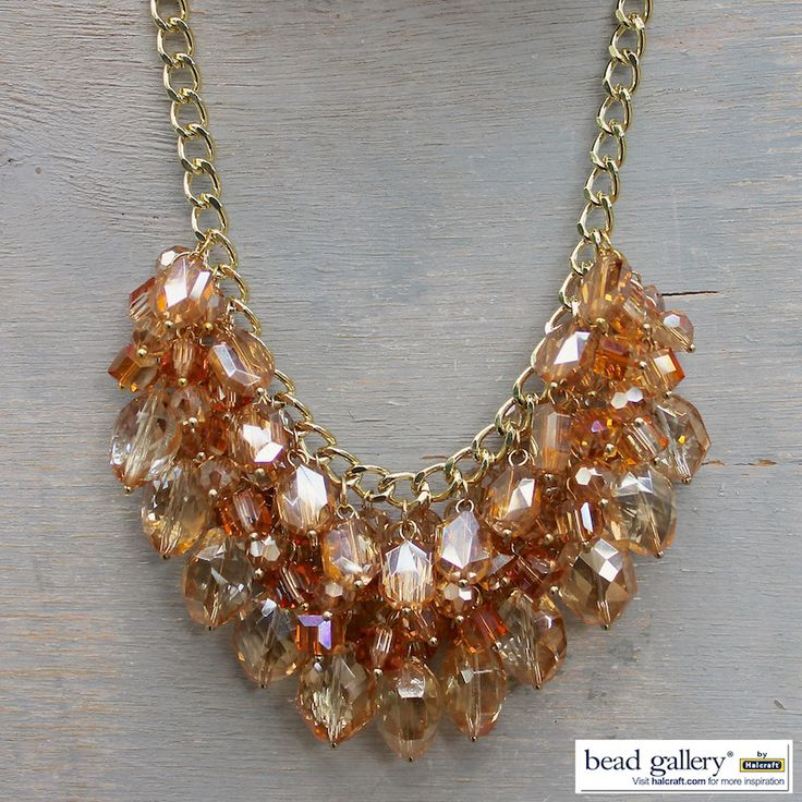 Create this #DIY Shimmering Necklace with our easy instructions!