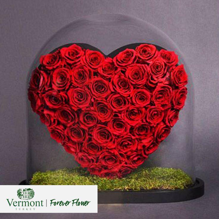 Gerçek sevgi; saf, doğal, sonsuz ve sınırsızdır. Sevginizi göstermek içinse sadece Vermont yeter! Vermont | Forever Flower