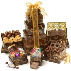 A special gift for someone special.  Gourmet Mother's Day Chocolate Gift Tower - Kosher.  Only $39.95: Baskets Gourmet, Chocolate Gifts, Gifts Baskets, Gourmet Chocolates, Valentines Day, Chocolates Gifts, Broadway Baskets, Hampers, Gifts Towers