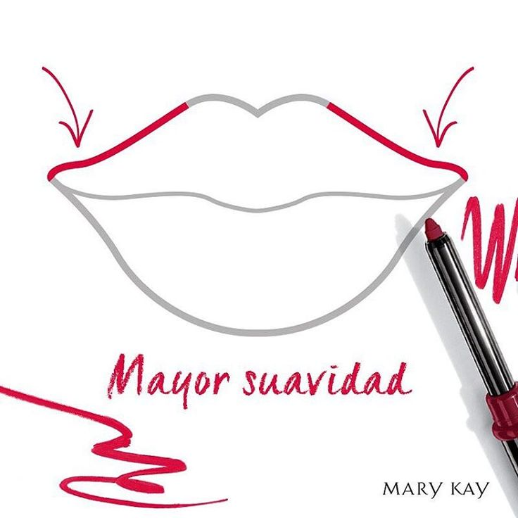 """142 Likes, 3 Comments - Mary Kay Argentina (@marykayargentina) on Instagram: """"Para una curva más suave y un #labio superior de aspecto más grueso, trazá hacia arriba desde las…"""""""