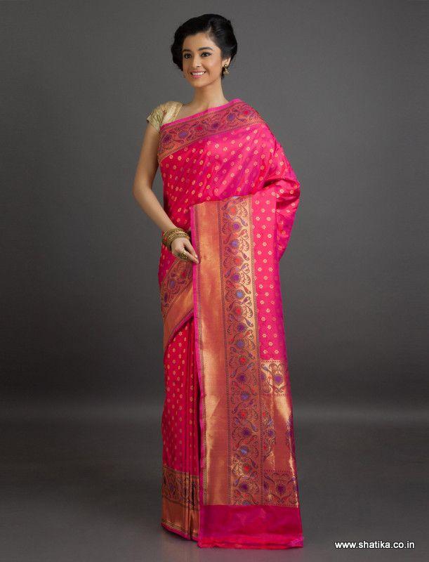 Aditi Brocaded Bel Pattern #BanarasiShaluSilkSaree