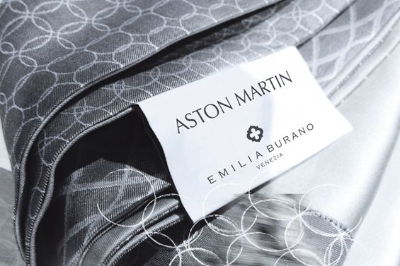This linen by Emilia Burano for Aston Martin is absolutely fantastic, and truly fits into a Aston Martin lifestyle.