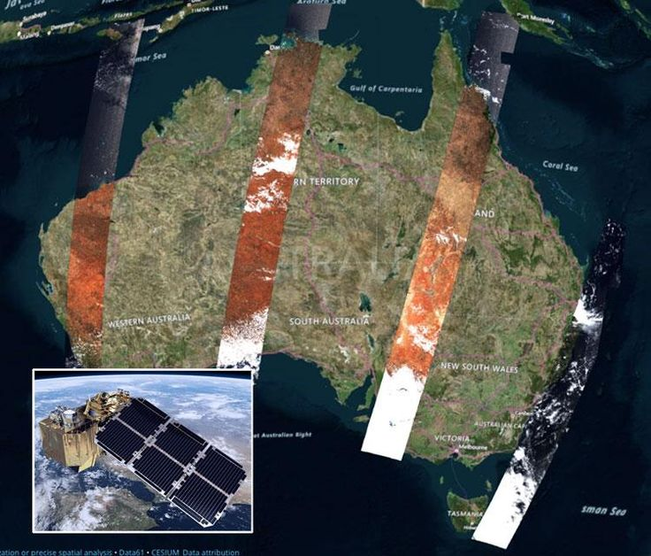 Near Real Time Satellite Images Show Us The Real Australia