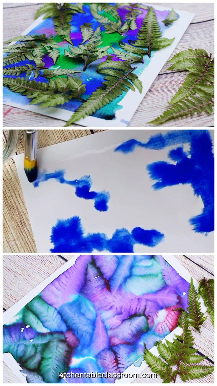 Leaf Printing- Stunning Watercolor Botanical Prints – The Kitchen Table Classroom