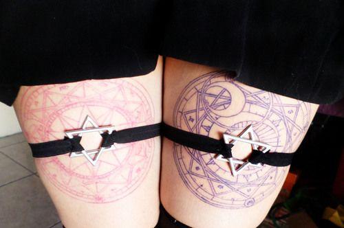 Tattoo and sakura card captor image pastel goth lolita for Pastel goth tattoos