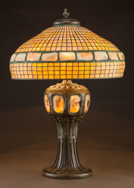 Tiffany Studios Leaded Glass And Bronze Golden Turtleback