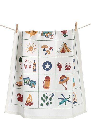 Free Shipping And Returns On Nordstrom At Home Camping Bingo Dish Towel