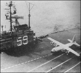 When a C-130 Hercules landed on the US Navy Aircraft Carrier USS Forrestal 1963