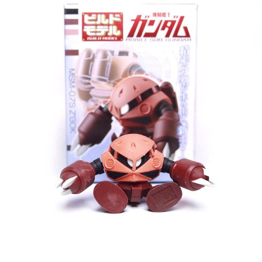 Front Side + Box Build Model MSM-07S Char Z'gok  Series : Build model Gundam  Brand : Bandai  Release : January 2015  Height : +- 45mm  Price : 350Yen  #ズゴック #シャアアズナブル #機動戦士ガンダム #ガチャガチ#Gunpla #ModelKit #Gashapon #Gacha #MiniFigure #Figure #Toys #Zgok #CandyToys #BuildModel #Bandai #CharAznable #Zeon #Zugokku #MobileSuits #Gundam #Jaburo #OneYearWar #UniversalCentury #Toys #ToyPhotography #Instagram #InstaToys #Amphibious