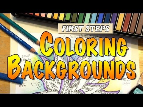 Cher Kaufmann, international artist and author, shares the first steps in coloring backgrounds (for coloring books or coloring projects). Topics include sing...