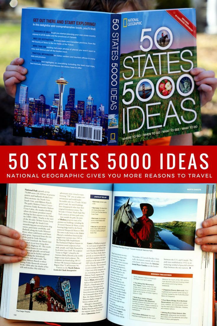 National Geographic S 50 States 5000 Ideas A Book Review 50 States Travel Book Travel Games