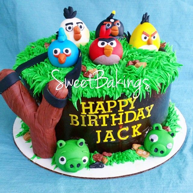 17 best ideas about angry birds cake on pinterest angry for Angry birds cake decoration kit