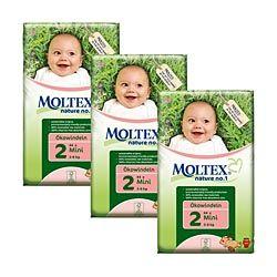 Moltex Nature No1 Mini Box ~ (132 nappies) ~ 3 packs ~ SAVE £3.76
