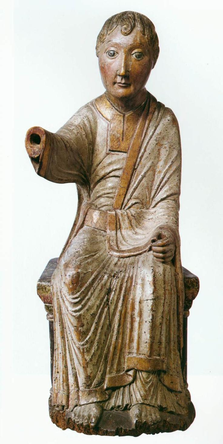 UNKNOWN MASTER, German, Angel, c. 1180, Painted poplar wood, height 64 cm, Staatliche Museen, Berlin