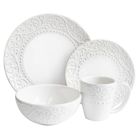 Stylist's Tip: Neutral dinnerware offers flexible style for any occasion. Whether you're prepping for a wedding reception, throwing a kindergarten tea part...