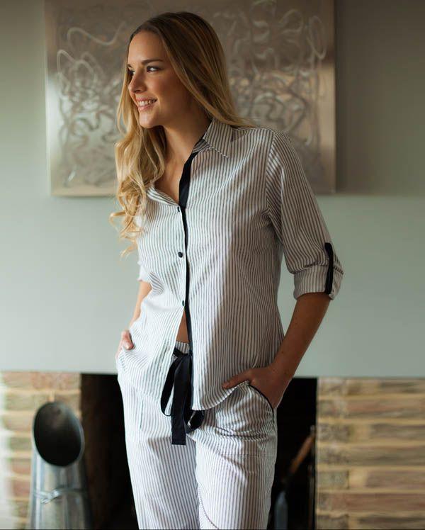 Freya Long Sleeve Stripe Pyjamas