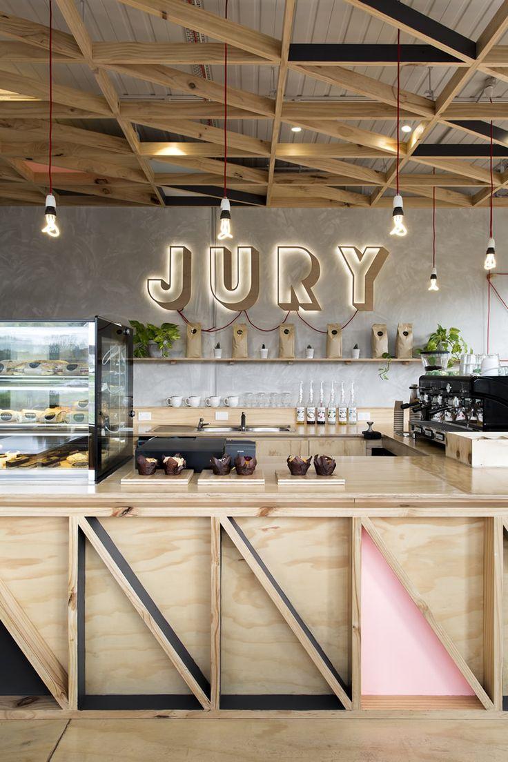 Jury Café — Pentridge Village, Melbourne #3DSign #lighting #counterdetail