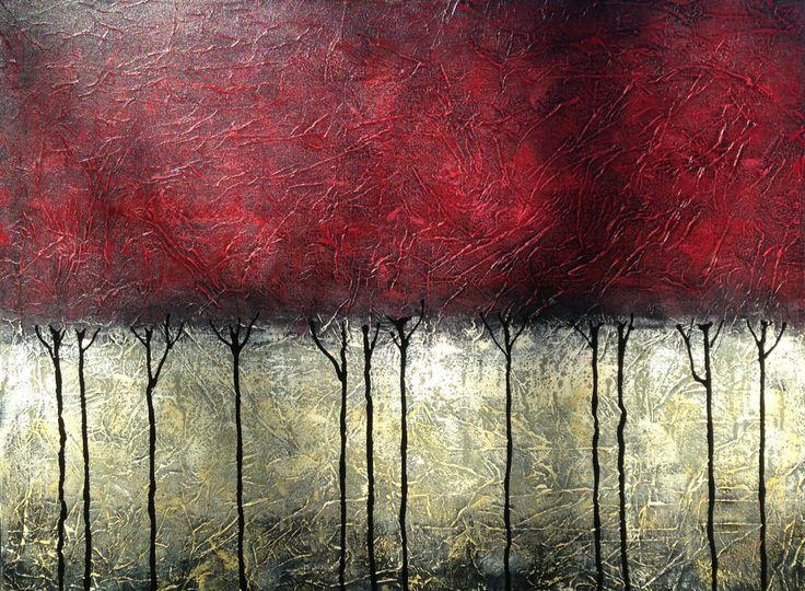 """Magic Hour"", médium mixte, 40 x 30, Catherine Fagnan, artiste peintre québécoise (Canada) catherinefagnan.com"