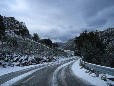 Mallorca - Winter - Snow in the mountains