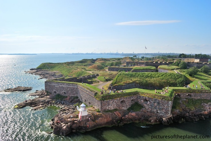 The dramatic Suomenlinna sea fort near Helsinki, Finland. Suomenlinna is a UNESCO listed world heritage site.