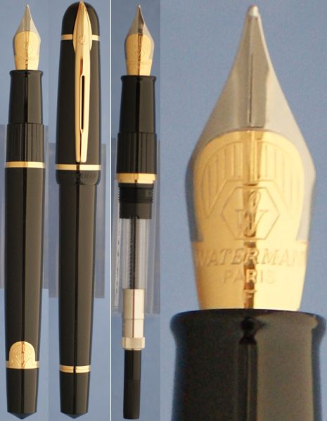 Waterman Phileas black fountain pen with fine nib