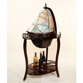 Yacht Boat Santa Maria Globe Drinks Bar Cabinet 350 00