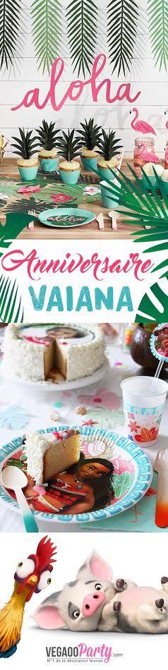 Une jolie déco pour un anniversaire fille sur le thème Vaiana (Disney) ! #moana #party #tropical #iles #idées #anniversaire #vaiana #hawaï #vparty #aloha