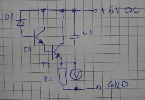 circuito de teste de diodos sensor de luz