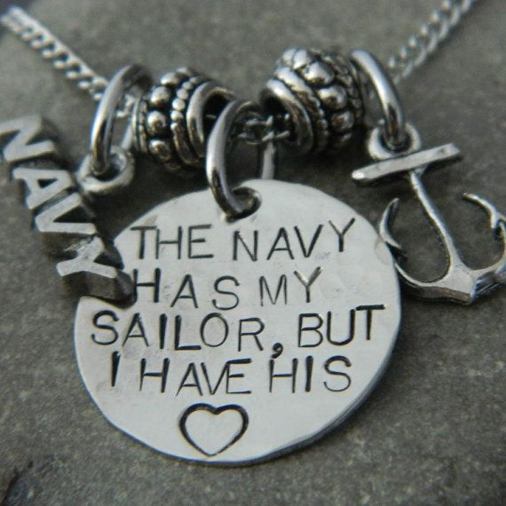 The Navy Has My Sailor But I have His Heart Anchor by WireNWhimsy, $30.00