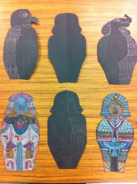 Drip, Drip, Splatter Splash Egyptian Art Project Ideas for all grade levels