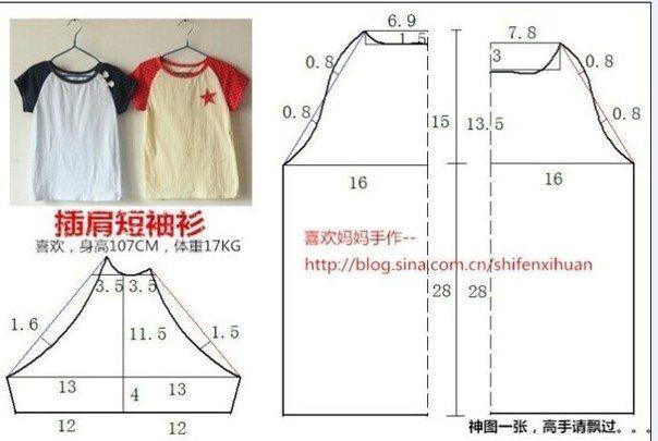 Ideas para el hogar: Moldes para realizar remeras para los chicos con sencillas costuras