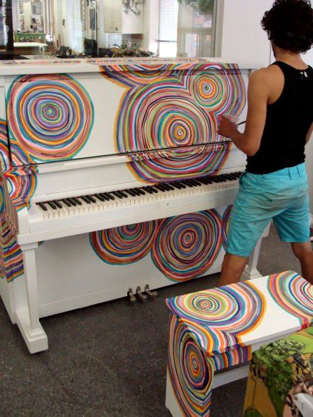 painted piano. I'm pretty sure I wouldn't be able to play a lick without getting too distracted lol