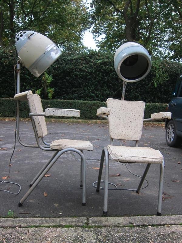 Retro hair salon chairs