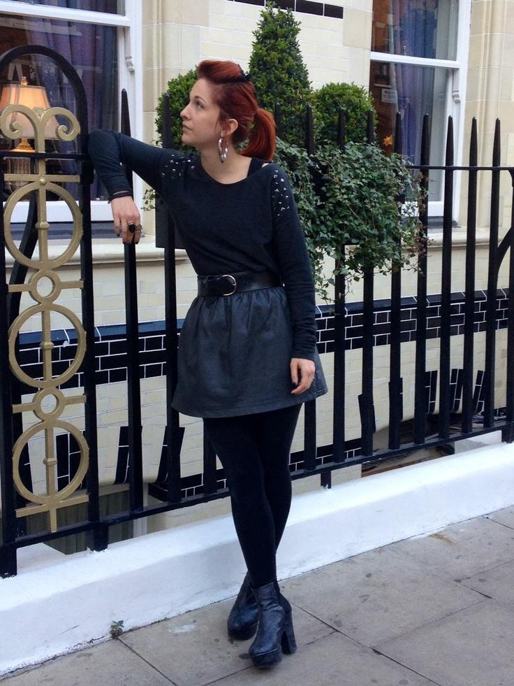 LJTfash.blogspot.co.uk #outfitpost #ootd #skaterskirt #studs