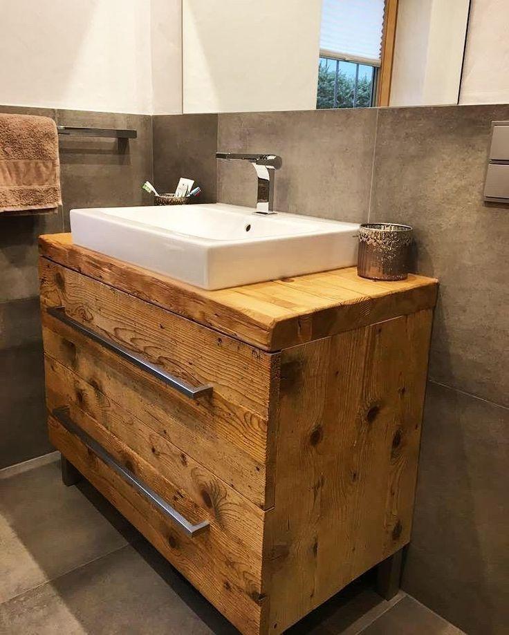 Waschtisch Praktisch Schon So Geht S Badezimmer Unterschrank Holz Waschtisch Bad Waschtisch