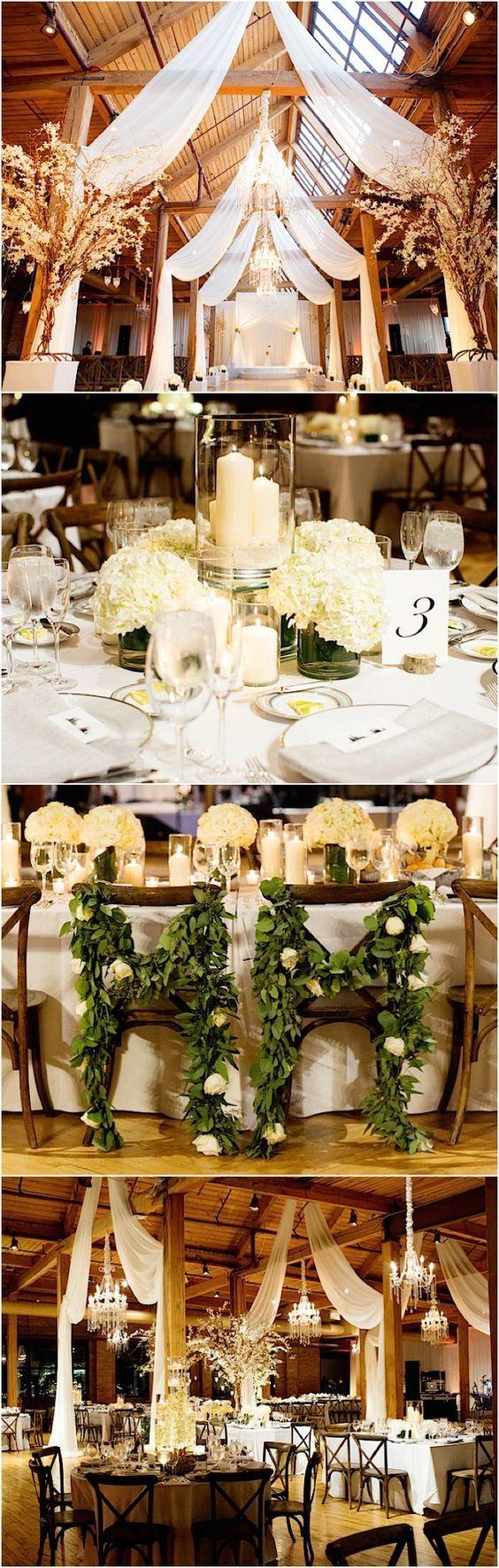 rustic barn wedding reception idea / http://www.himisspuff.com/rustic-indoor-barn-wedding-reception-ideas/9/