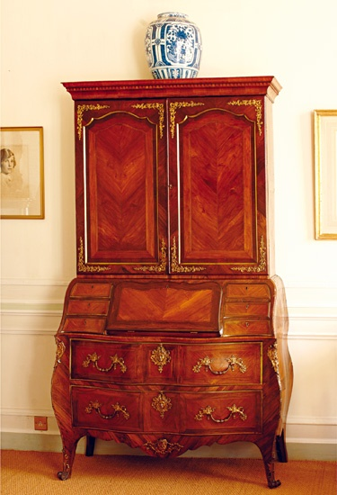 langlois furniture. this bureau is probably one of the rarest pieces furniture in house it langlois