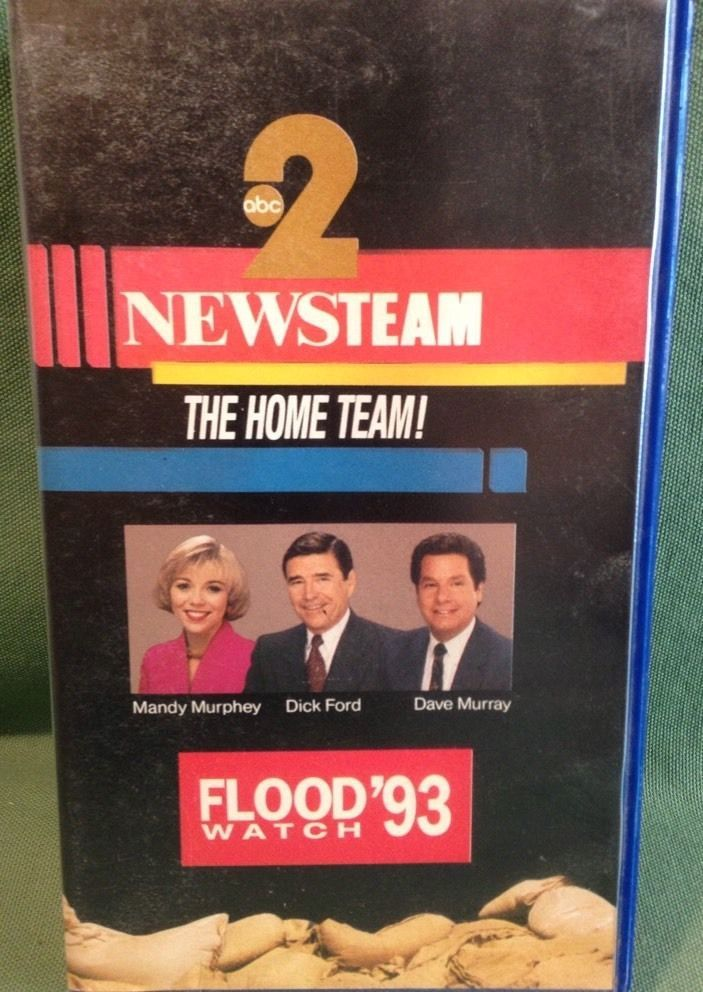"History Education ""Flood Watch '93"" VHS Mississippi News Team Murphy Ford Murray 