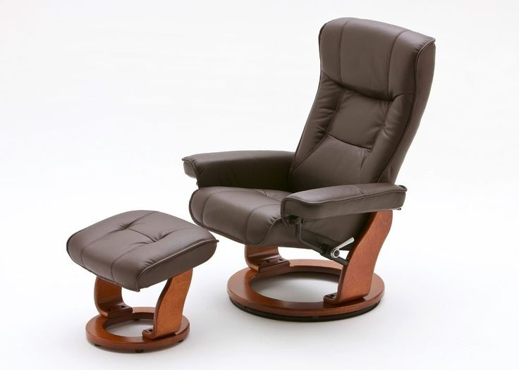 Relaxsessel Hamilton Leder Braun Fuß Honig 8838. Buy now at https://www.moebel-wohnbar.de/relaxsessel-hamilton-fernsehsessel-leder-braun-fuss-honig-8838.html