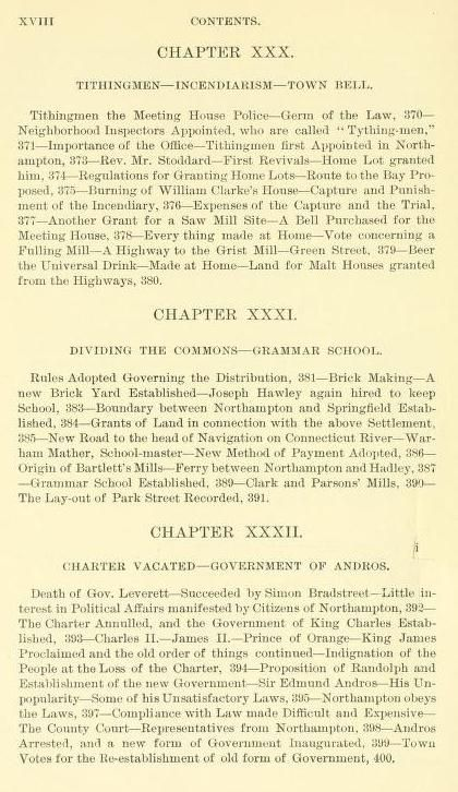 History of Northampton, Massachusetts, from its settlement in 1654, Andros, Baker, Bloody Brook, Connecticut, Cook, Deerfield massacre 1704, Hadley, Hatfield, Hertel de Rouville, King Philip's war, Massachusetts, Masson, Mather, Mohawk, Northampton, Northfield, Pocumtuck, Pomeroy, Pynchon, Queen Anne's War, Springfield, Stoddard, Turner'Fall, witchcraft