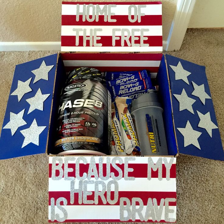 4th of july themed care package for babe care package