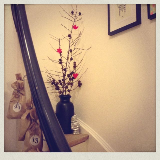 Stair decoration and my 2 sons - Storm and Axel's - calender gifts...