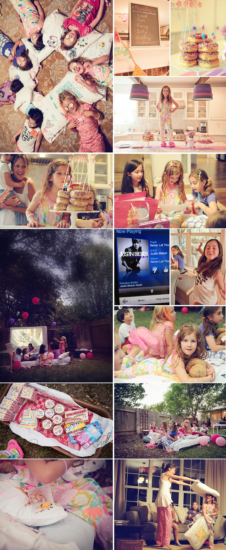 Pajama Night Inspiration: Lovely photos of a Pajama Party by Heather Walker #pjnight: Pajamas Party'S, Girli Parties, Girl Sleepover, Cute Pajamas, Future Sleepover, Parties Ideas, Movie Night, Pajamas Parties, 6Th Birthday Parties