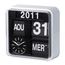 Horloge calendrier retro