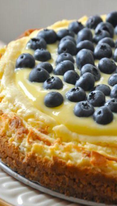 Lemon Blueberry Cheesecake Recipe; desserts