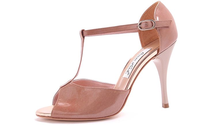 Comme il Faut - Charol Tamarin Tstrap - Exclusive Evening Dancing Shoes - Argentina Tango - Salsa - Bachata - Kizomba