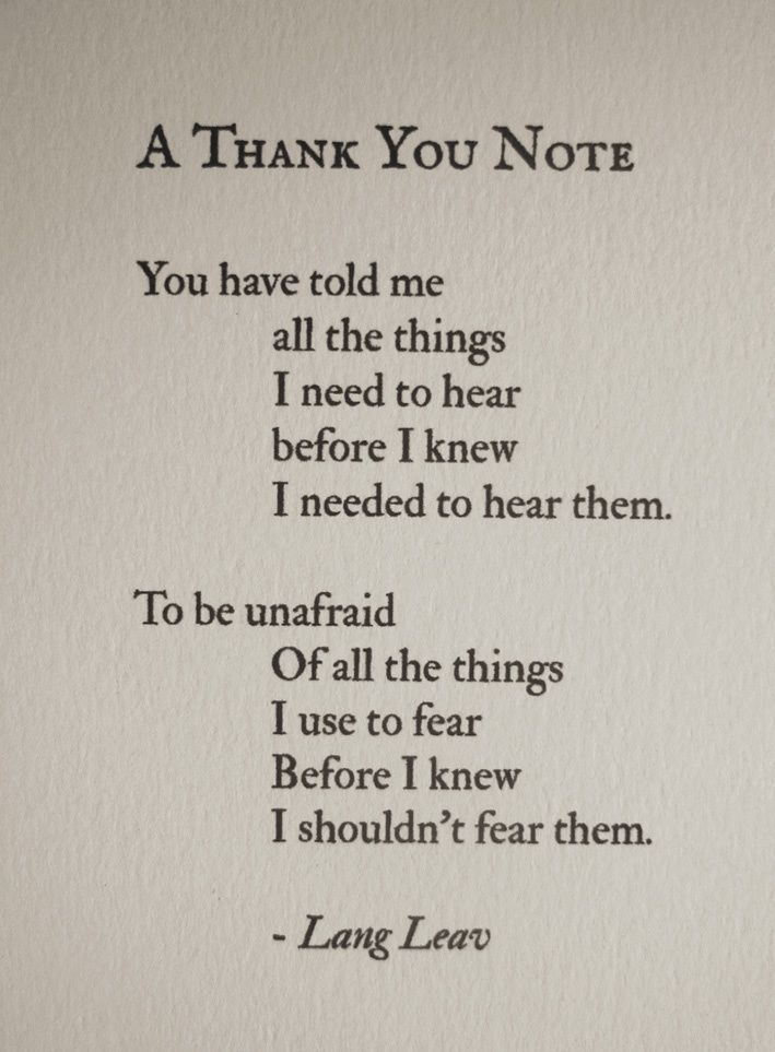 A Thank You Note - Lang Leav | #liferules | Pinterest ...
